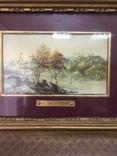 """Парные картины """"Пейзаж"""", руч. живопись на фарфоре одного худ., подписн., нач. 20 века., фото №4"""