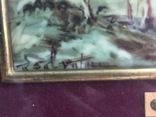 """Парные картины """"Пейзаж"""", руч. живопись на фарфоре одного худ., подписн., нач. 20 века., фото №5"""