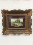 """Парные картины """"Пейзаж"""", руч. живопись на фарфоре одного худ., подписн., нач. 20 века., фото №6"""