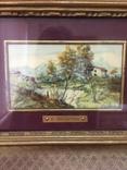 """Парные картины """"Пейзаж"""", руч. живопись на фарфоре одного худ., подписн., нач. 20 века., фото №7"""