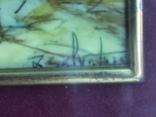 """Парные картины """"Пейзаж"""", руч. живопись на фарфоре одного худ., подписн., нач. 20 века., фото №8"""