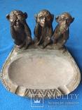 Пепельница --Три обезьяны, фото №2