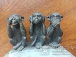 Пепельница --Три обезьяны, фото №7