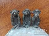 Пепельница --Три обезьяны, фото №8
