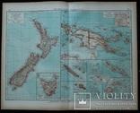 3 карты. Океания, Австралия. Andrees HandAtlas. 1921 год. 56 на 44 см (3)., фото №2