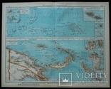 3 карты. Океания, Австралия. Andrees HandAtlas. 1921 год. 56 на 44 см (3)., фото №3