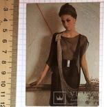 Календарик  девушка, мода, стиль, 1991 г. (эротика, 03) / дівчина, еротика, фото №2