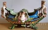 Жардіньєрка, майоліка, Франція, Н25х45х24 см, фото №2