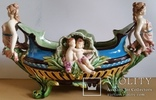 Жардіньєрка, майоліка, Франція, Н25х45х24 см, фото №3