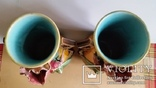 Вази, пара, майоліка, Франція, Н30х16 см, фото №8