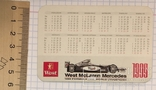 Реклама West McLaren Mercedes, 1999 / Мерседес, формула 1, фото №4