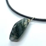 Подвес камень и серебро на шнурке, фото №3