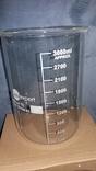 Лабораторный стакан ,градуированый 3000мл(низкий с носиком) ТС, фото №2