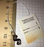 Золотой подвес Доллар / золотий підвіс, кулон + бонус, фото №5