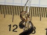 Золотой подвес Доллар / золотий підвіс, кулон + бонус, фото №8