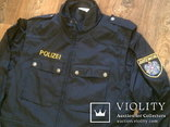 Жилетка Polizei +Justizwache рубашка (большой размер), фото №2