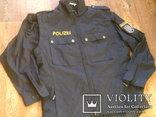 Жилетка Polizei +Justizwache рубашка (большой размер), фото №3