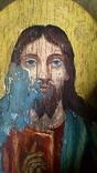 Икона старинная большая Святая Троица 81 х 71 см, фото №6