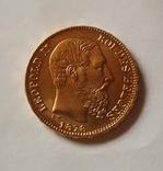 Бельгия, 20 франков 1878г. aUNC, фото №4