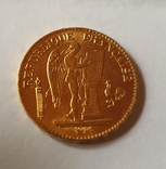 20 франков 1877 год, Франция, золото 6,45 грамм 900, фото №4