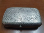 Табакерка серебро 84 пробы, фото №4