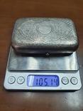 Табакерка серебро 84 пробы, фото №10