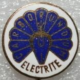 """Значок фирмы """"Carborundum Electrite"""" (ЧССР), фото №2"""