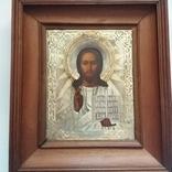 Икона Господь Вседержитель 1886 год, оклад серебро, фото №2