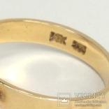 Винтажное золотое кольцо с натуральным аметистом, фото №7