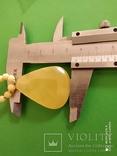 Колье- пейзажный янтарь.  Вес - 14.43 гр., фото №11