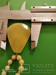 Колье- пейзажный янтарь.  Вес - 14.43 гр., фото №12