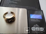 Мужское золотое кольцо с масонской символикой и бриллиантом, фото №5