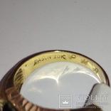Мужское золотое кольцо с масонской символикой и бриллиантом, фото №6