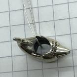 Шарм серебро дельфин, фото №3