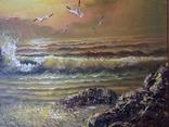 Морской пейзаж  х.м. 40х51, фото №8