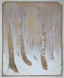 Этюд. Зимние березы. 62х49,5, фото №2