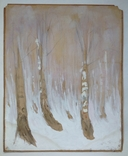 Этюд. Зимние березы. 62х49,5, фото №3