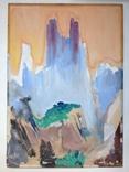Этюд. Орлиные горы. Кавказ 63х44,5, фото №2