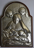 Икона серебро 925пр.   21х15, фото №2
