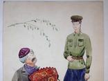 Шестеренко А.И.  Эскиз костюмов. 1970-е 59,5х40, фото №4