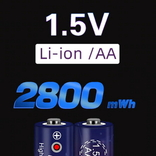 Аккумуляторы АА на 1,5V (ПОЛТОРА Вольта) Li-ion - 4 шт. + зарядное, фото №2