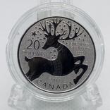 Канада 20 долларов, 2012 Волшебный олень серебро UNC, фото №2