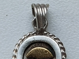 Кулон серебро с позолотой  с именем Татьяна Египетский, фото №7