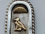 Кулон серебро с позолотой  с именем Татьяна Египетский, фото №8