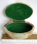 Шкатулка для украшений из зелёного оникса., фото №2