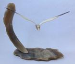 Чайка над морем. Кость. 1969г., фото №3