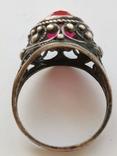 Кольцо серебряное с рубином, фото №7