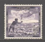 Брит. колонии. Науру. 1954. Ловля рыбы, 1/2 п. *., фото №2