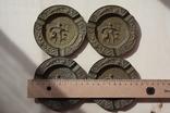 Бронзовые/латунные пепельницы Португалия и две в форме курительных трубок., фото №7