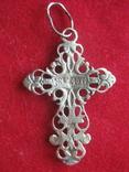Крестик, крест серебро, 1.4 грамм, фото №3